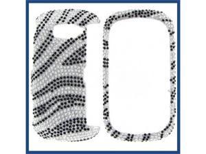 LG VN530 (Octane) Full Diamond Silver Zebra Protective Case