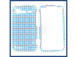 HTC Incredible S / Incredible 2 Blue Check Protective Case