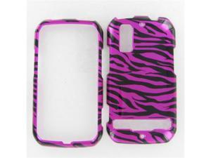Motorola MB855 (Photon 4G) Zebra on Hot Pink (Hot Pink/Black) Protective Case
