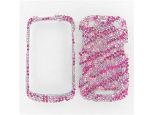 Blackberry 9350/9360/9370 (Curve) Full Diamond Hot Pink Zebra Protective Case