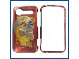 HTC Incredible S / Incredible 2 Skull w/Dragon Protective Case