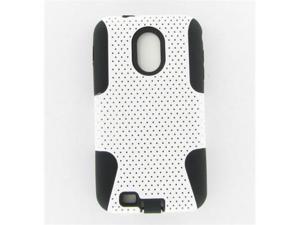 Samsung D710 (Epic 4G Touch) Hybrid Case Black TPU + White Net
