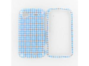 HTC Pyramid / Sensation 4G Blue Check Protective Case