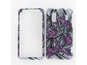 HTC EVO Design 4G Purple Butterfly Protective Case