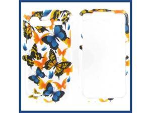 HTC Incredible S / Incredible 2 Yellow Butterfly Protective Case
