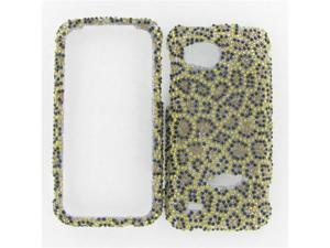 HTC ADR6425 (Rezound) Full Diamond Leopard Protective Case