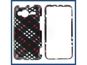 HTC Evo Shift 4G Black Check Protective Case