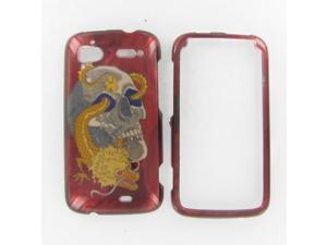 HTC Pyramid / Sensation 4G Skull w/Dragon Protective Case