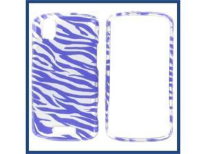 Motorola A957 (DROID Pro) 2D Silver Purple Zebra Protective Case