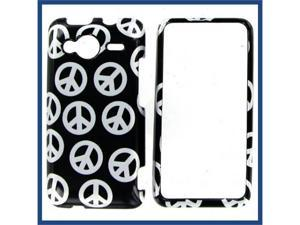 HTC Evo Shift 4G Black Silver Peace Protective Case