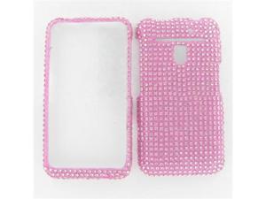 LG MS910 (ESTEEM)/ VS910 (REVOLUTION) Full Diamond Pink Protective Case