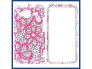 HTC Evo Shift 4G Full Diamond 8 Leaves Flowers Protective Case