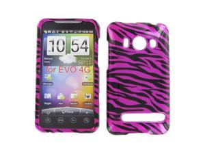 HTC Evo 4G Zebra on Hot Pink (Hot Pink/Black) Protective Case
