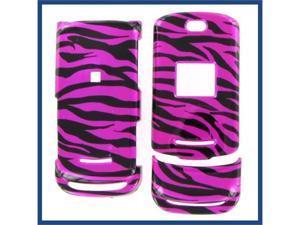 Motorola WX450 Zebra on Hot Pink (Hot Pink/Black) Protective Case