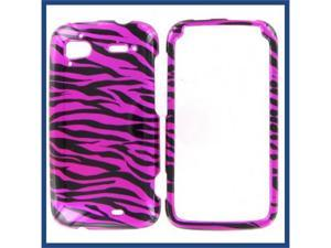 HTC Pyramid / Sensation 4G Zebra on Hot Pink (Hot Pink/Black) Protective Case