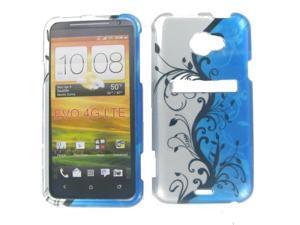 HTC Evo 4G LTE  Blue Vine Protective Case