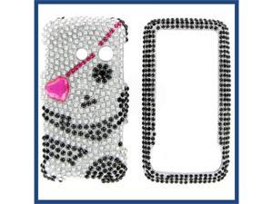 LG LN510 (Rumor Touch) Full Diamond Black Skull #1 Protective Case