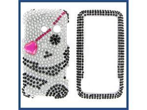 LG LN510 (Rumor Touch) Full Diamond Black Skull #1 Protective Case