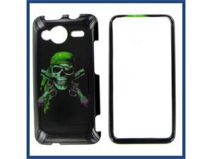 HTC Evo Shift 4G Green Skull Protective Case