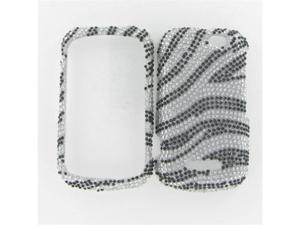 Motorola I475 (Clutch +) Full Diamond Silver Zebra Protective Case
