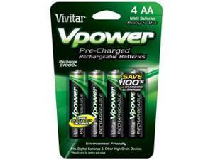 Vpower AA NiMH Pre-Charged Batteries  4-Pack