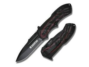S&W Black Ops, Red/Black Handle, Black Blade, Plain