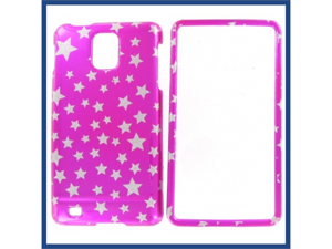 Samsung i997 (Infuse 4G) Star on Hot Pink Protective Case