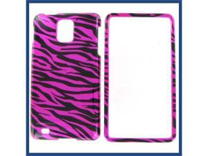 Samsung i997 (Infuse 4G) Zebra on Hot Pink (Hot Pink/Black) Protective Case