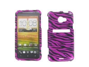 HTC Evo 4G LTE  Zebra on Hot Pink Protective Case