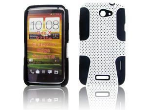 HTC ONE X Hybrid Case Black TPU + White Net