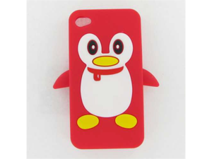 Apple iPhone 4/CDMA/4S Penguin Skin Case Red