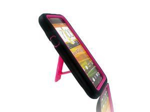 HTC EVO 4G LTE Black+Hot Pink Robotic Case