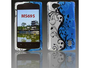 LG MS695 (Optimus M+)  Blue Vine Protective Case