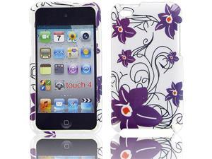 Apple iPod Touch 4 Purple Flower Protective Case