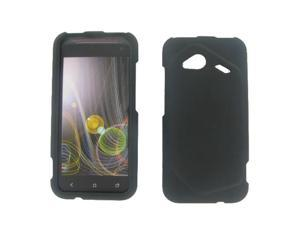 HTC 6410 Fireball Droid Incredible 4G LTE Black Rubber Protective Case