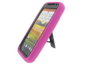 HTC ONE X Hot Pink Robotic Case