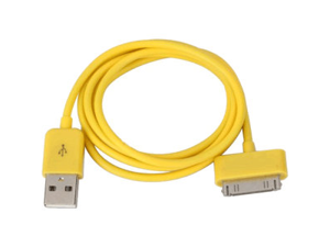 Apple 30 Pin iPhone/ iPad USB Color Series Data Cable, Yellow