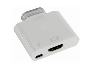 Apple iPad/ iPad 2 HDMI Adapter + miniUSB Input