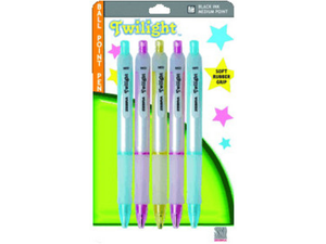 Twilight Retractable Ballpoint Pen 5 Pk*6