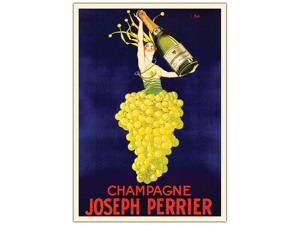 Champagne Joseph Perrier-Framed 18x24 Canvas Art