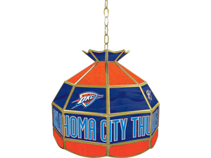 Oklahoma City Thunder NBA 16 inch Tiffany Style Lamp
