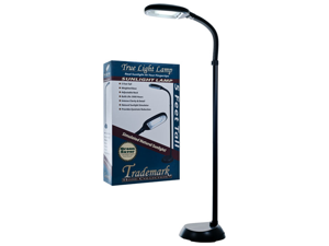 Trademark Home Black Deluxe Sunlight Floor Lamp 5 Feet