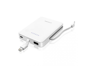 macally White 3000 mAh Portable Battery Charger Designed for Lightning iDevices MBP30L