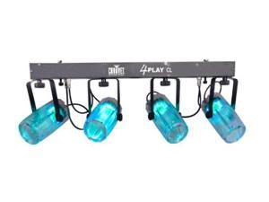 Four Tri-Color Spots with Bar Complete LED Kit -Clear