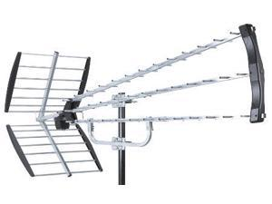 HDTV 80 Mile Deep Fringe Yagi Television Antenna - with 14dB Amplifier