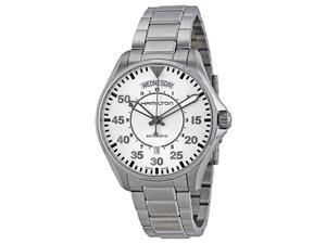 Hamilton Men's H64615155 Pilot Day Date White Watch
