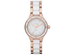 DKNY Rose Gold White Watch NY8500