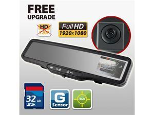 HD CAR DVR Rear View Mirror G SENSOR 32GB SD card accident camera video recorder HDVR-150