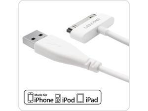 Extra Long 6 Foot (6ft) iPhone / iPod / iPad USB Charge and Sync Cable -  White