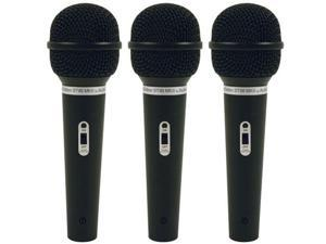 Audio Technica ST90MKII Dynamic Microphone 3 Pack Dynamic Handheld Mic